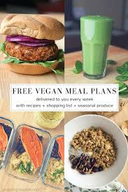 free weekly vegan meal plan jordan leigh waddell