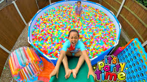giant ball pit pool party outdoor playground fun giant water