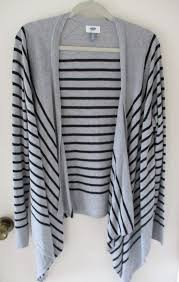 womens black cardigan sweater navy gray black stripe open drape front cardigan sweater xl