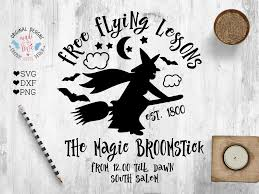 free halloween svg free flying lessons halloween cut file design bundles