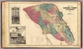 sonoma california map of sonoma county california thompson thos h 1877