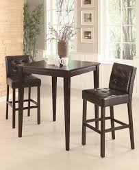 Pub Table Set Cappuccino 3 Piece Pub Table Set By Coaster 102587
