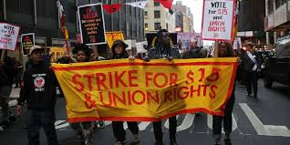 fast food workers strike seeking 15 wage political muscle