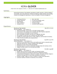resume samples for warehouse best team members resume example livecareer create my resume