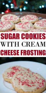 sugar cookies with cream cheese frosting recipe