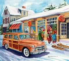 Susan Wallace Barnes Christmas Cards Vintage Style Christmas Card S Christmas Cars Pinterest