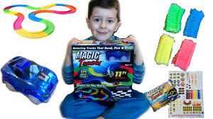 light up car track as seen on tv as seen on tv glow in the dark magic tracks with light up car toy