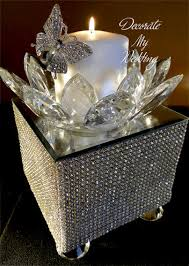 reception centerpiece white ceremony candle silver your