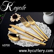 kaiyuan cutlery stainless steel 18 10 golden gold flatware set
