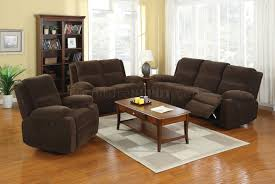 Fabric Reclining Sofa Reclining Sofa Cm6554 In Brown Fabric W Options