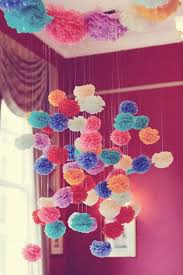 Homemade Pom Pom Decorations Diy Pom Pom Or Floral Sphere Decoration Is It For Parties Is