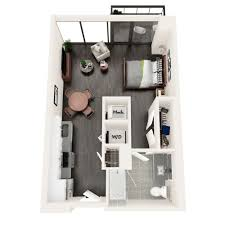 The Azure Floor Plan by One Two And Three Bedroom Apartments For Rent In Midtown Ga