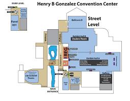 san antonio convention center floor plan henry b gonzalez convention center river street level san japan
