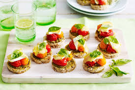 food canapes mixed tomato canapes