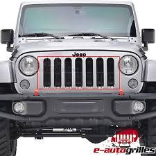 Rugged Ridge Billet Grille Inserts In Black Jeep Wrangler Billet Grille Ebay