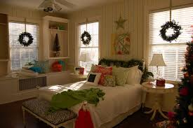 decorations country style bedroom with christmas decoration