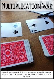 multiplication table games 3rd grade multiplication war fun math game that only requires a deck of cards