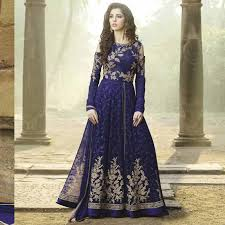 party wear gowns chhabra bros blue georgette dress materail style
