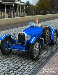 vintage bugatti race car grand prix racing car 1926 3d models and 3d software by daz 3d