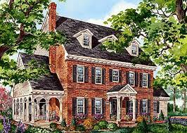 brick colonial home 80696pm architectural designs