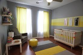 Yellow Drapery Eric U0027s Gray And Yellow Modern Nursery Idea Paint Wide Stripes