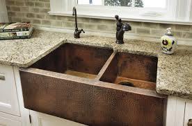 copper apron front sink sinks outstanding copper farmhouse sink lowes regarding modern home