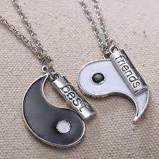 best friends puzzle necklace images Unique gifts vintage handstamped best friends yin yang puzzle jpg