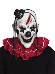 Halloween Costumes Jester Horror Circus Clown Jester Scary Halloween Mask Costume