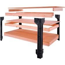 universal work bench leg kit 36 u0027 u0027 high workbenches amazon com