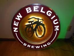 l k fat tire beer giant bike led light up sign man cave game