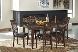 7 piece dining room sets ashley d411 425 mallenton medium brown 7 piece dining table chairs set