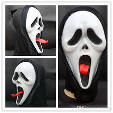 Scream Halloween Costume Kids Halloween Masks Skull Face Masks Scary Horrible Black Long