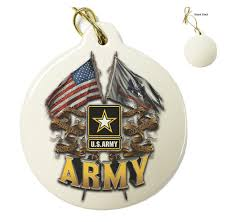 bits tree porcelain ornaments us army