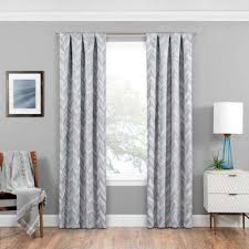 63 White Curtains Blackout Window Treatments The Home Depot