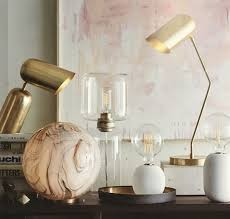 roost incline brass lamps for desk and table