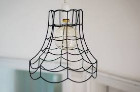 how to wire a pendant light vintage wire pendant light shade by frolic and cheer
