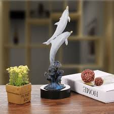 home decoration handmade best and cheap grey dolphin out of water handmade bronze sculpture