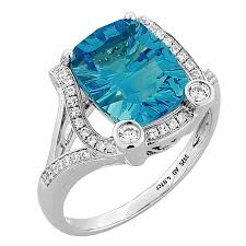 blue topaz engagement rings cushion cut swiss blue topaz gold ring for sale at 1stdibs