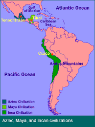 aztec mayan inca map the importance of history inca empire aztec and