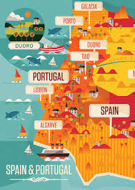 Portugal And Spain Map by Neil A Stevens U201c Spain U0026 Portugal By Neil Stevens A Detail Of A