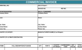 example commercial invoice international commercial invoice template invoice example