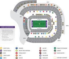 minnesota vikings stadium map