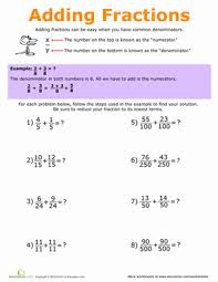 adding fractions worksheet 5th grade fraction practice 5th grade worksheets education
