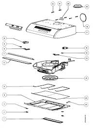 zanussi zht610x 94961052500 cooker hood section spare parts diagram