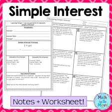 simple interest word problems worksheet free worksheets library