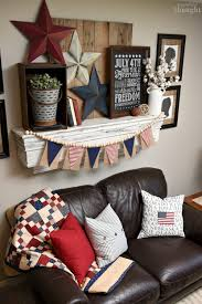 patriotic 4th of july mantel a wonderful thought