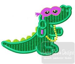 mardi gras alligator alligator mardi gras appliqué embroidery design alligator