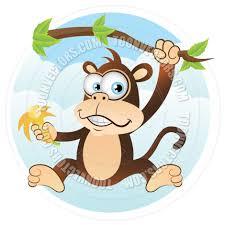 cartoon monkey hanging on tree by cartoongalleria toon vectors