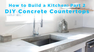 cabinet concrete kitchen countertop diy concrete countertops