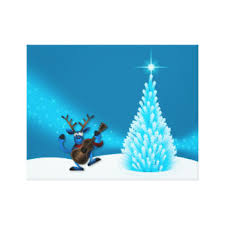Dancing Reindeer Christmas Decorations by Christmas Reindeer Wrapped Canvas Prints Zazzle